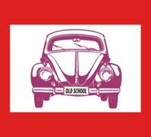 VW bug old school pink Kids Tee