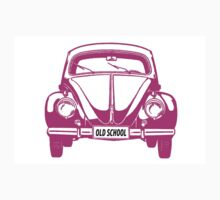 VW bug old school pink One Piece - Short Sleeve