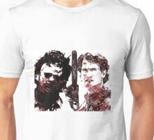 Good vs evil chainsaw Unisex T-Shirt