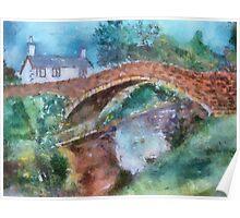 Dunsop Bridge Watercolour Poster