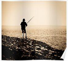 Fisherman at Black Point Poster