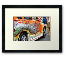 PT CRUISER GRAVE YARD CAR Framed Print