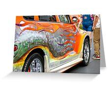 PT CRUISER GRAVE YARD CAR Greeting Card