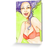 Sly Smile-Classic-style Pin-up Greeting Card