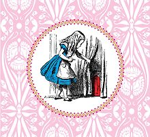 Alice in Wonderland - Alice, with Key in Hand, Pulls Back the Curtain to Find the Door to Wonderland  by EclecticAtHeART