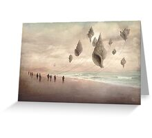 Floating Giants Greeting Card