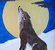 Wolf, Singing to The Moon,I- Phone Case by MaeBelle