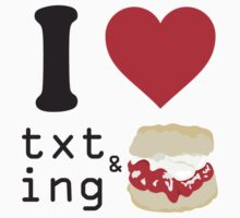 Texting and scones... One Piece - Long Sleeve