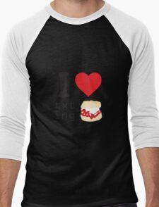 Texting and scones... Men's Baseball ¾ T-Shirt