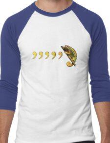 Comma, Comma, Chameleon! Men's Baseball ¾ T-Shirt