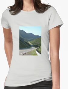 road in newfound land Womens Fitted T-Shirt