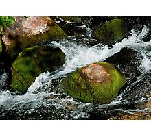 Water stream breaks on the rocks Photographic Print