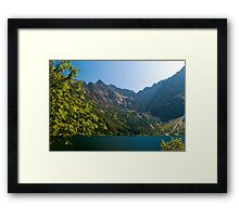 Morskie oko lake in the mountains Framed Print