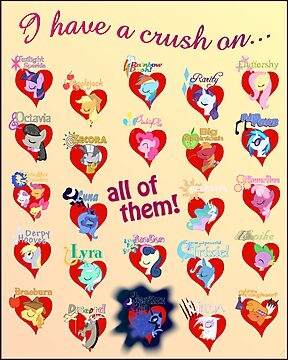 I have a crush on... all of them! 2.0 - Poster by Stinkehund