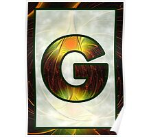 Fractal – Alphabet –  G is for Glow In The Dark Poster