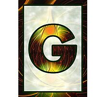 Fractal – Alphabet –  G is for Glow In The Dark Photographic Print