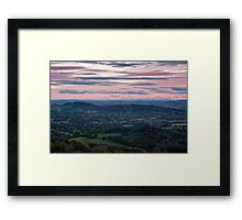 Looking Across Herefordshire Framed Print