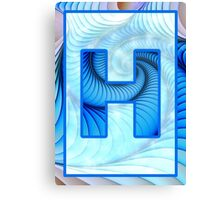 Fractal – Alphabet – H is for Hypnosis Canvas Print