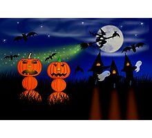 Mr. & Mrs. Pumpkin (HAPPY HALLOWEEN) Photographic Print