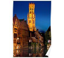 Night Brugge Poster
