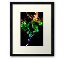 Colourful Smoke Trails Framed Print
