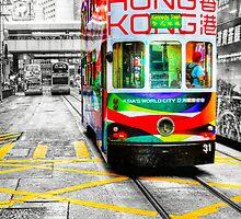 Hong Kong Tram by Paul Thompson Photography