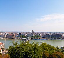 Pest from Buda - panorama by Luca Tranquilli