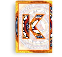 Fractal – Alphabet – K is for Kaleidoscope Canvas Print