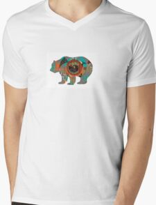 Multi-skin Bear Mens V-Neck T-Shirt