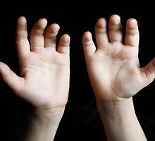Child hands by Sami Sarkis