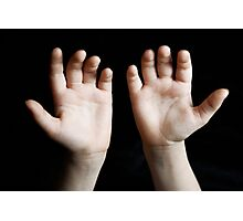 Child hands Photographic Print
