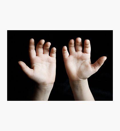 Child hands Photographic Print