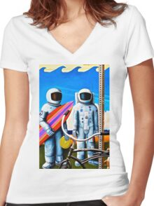 Land, Sea & Sky Women's Fitted V-Neck T-Shirt