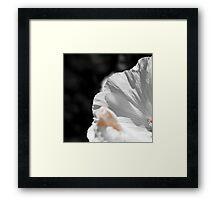 White flower detail Framed Print