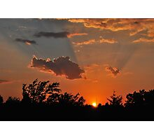Oklahoma Sunset Photographic Print