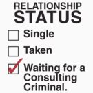 WAITING FOR A CONSULTING CRIMINAL by thischarmingfan