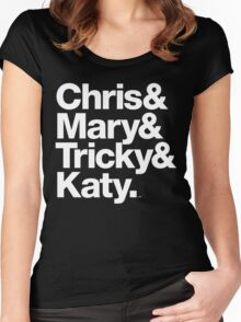 Christopher Tracy & Tricky & Mary Sharon Threads Women's Fitted Scoop T-Shirt