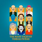 The Many Faces of Tobias Fnke  | iPhone Case by Tom Trager