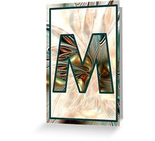Fractal – Alphabet – M is for Magic Greeting Card