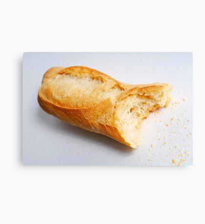 Bitten french baguette Canvas Print