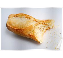 Bitten french baguette Poster