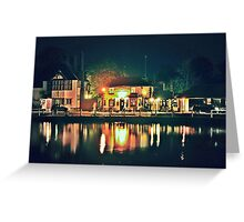 The White Horse Pub on Lindfield Pond Greeting Card
