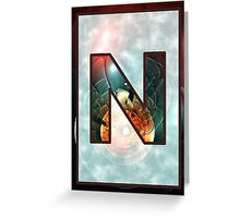Fractal – Alphabet – N is for Night Vision Greeting Card