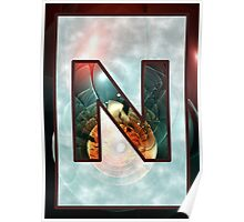 Fractal – Alphabet – N is for Night Vision Poster
