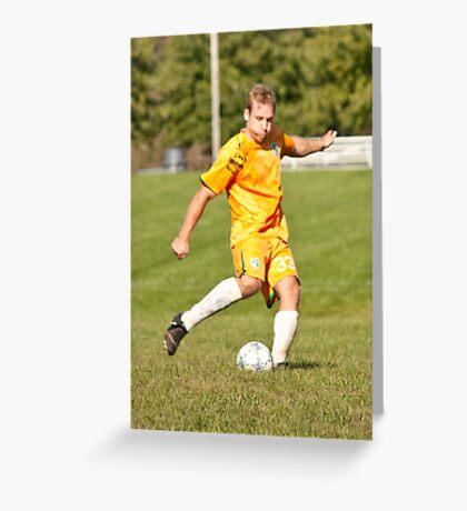 Player Kicks Greeting Card