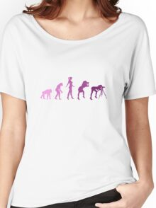 Girl Photographer Evolution Women's Relaxed Fit T-Shirt