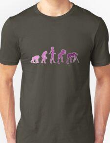 Girl Photographer Evolution Unisex T-Shirt