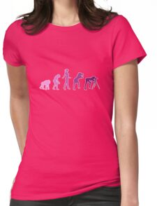 Girl Photographer Evolution Womens Fitted T-Shirt