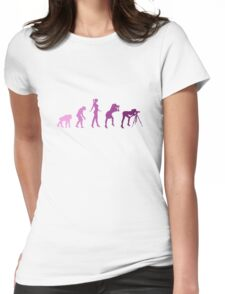 Girl Photographer Evolution Womens Fitted T-Shirt