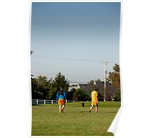 Two Soccer Players Poster